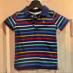 Carters Multi Colored Stripped Collared Shirt